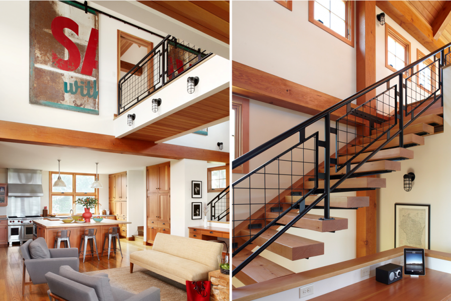 Thistle Hill Farm | Interior Bridge and Floating Stair ...