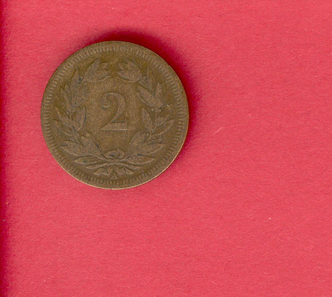 2 ? Switzerland, Schweiz, Helvatia 1851, front