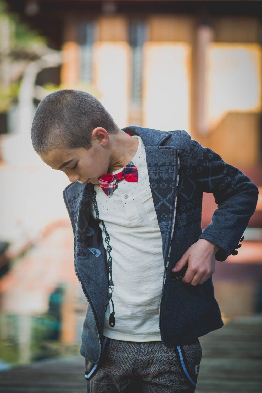 Mini Shatsu Real Suspender Bow Tie Henley Shirt