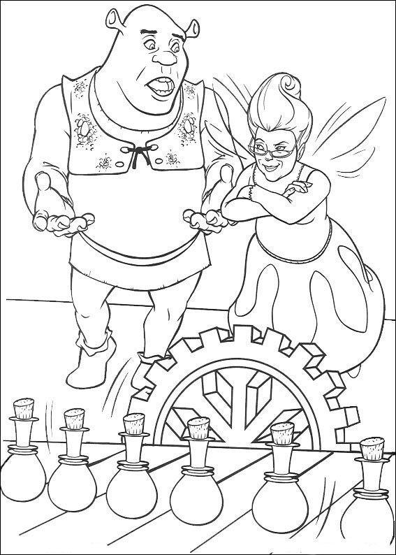 Dibujos para Colorear Shrek 30 | Dibujos para colorear para niños ...