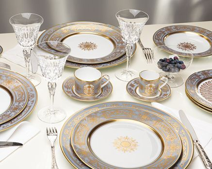 service de table porcelaine de limoges assiettes. Black Bedroom Furniture Sets. Home Design Ideas