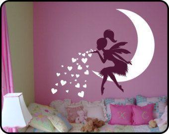 Baby Mädchen Zimmer Dekor Fee Wandtattoo w / blowing von DecaIisland Source by zehra_cankus #babygirlnames