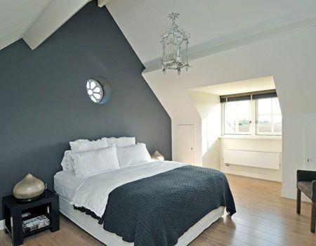 Afbeeldingsresultaat voor slaapkamer witte vloer donkere muur ...