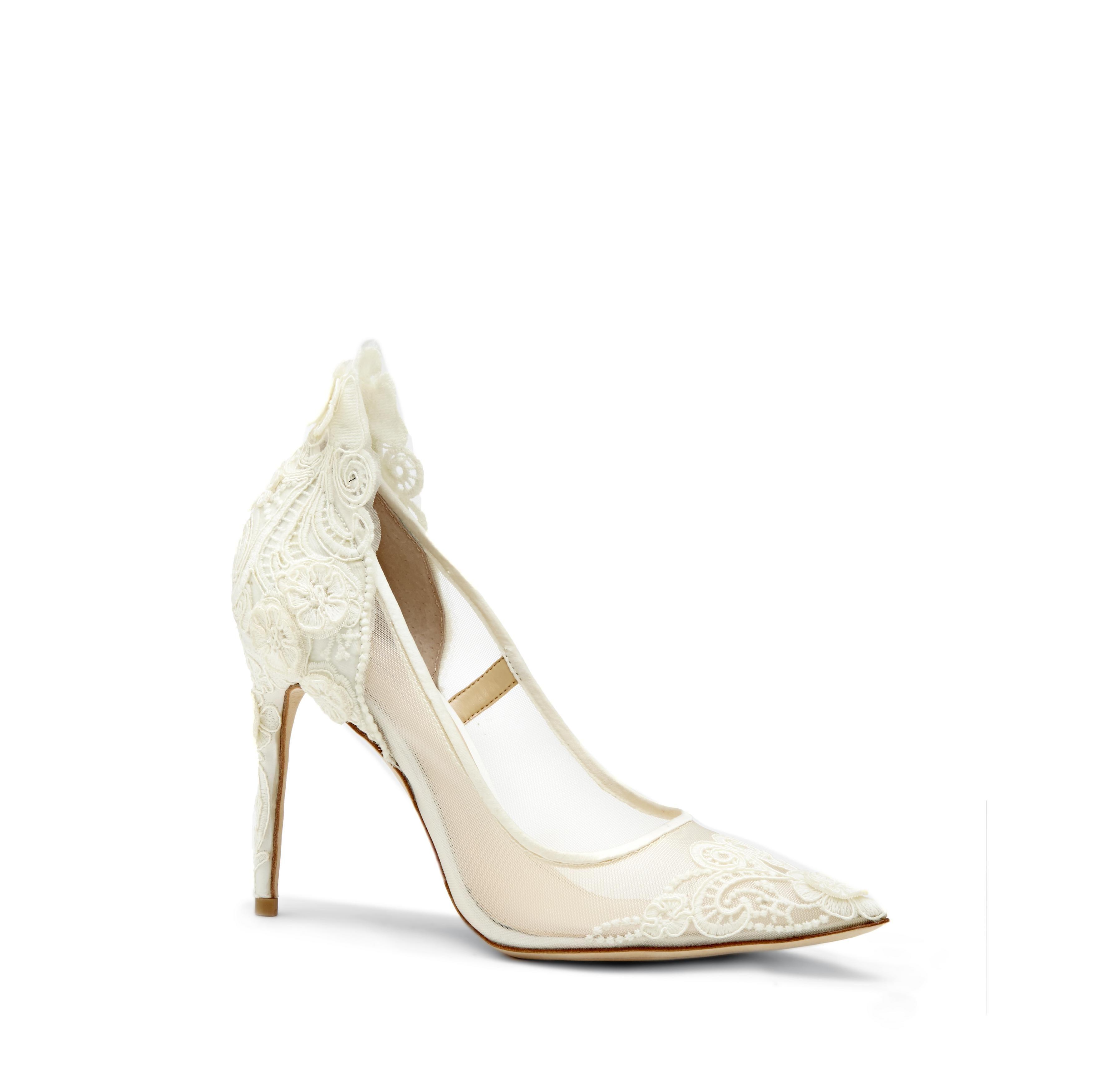 Imagine Ophelia Lace Appliqued Pump Fancy Shoes Wedding Shoes Pumps