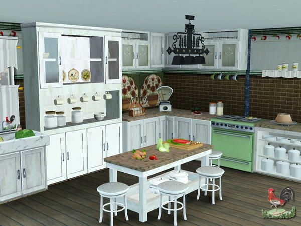 Lulu265 S Country Kitchen Sims Sims 4 Kitchen Sims 4 Cc