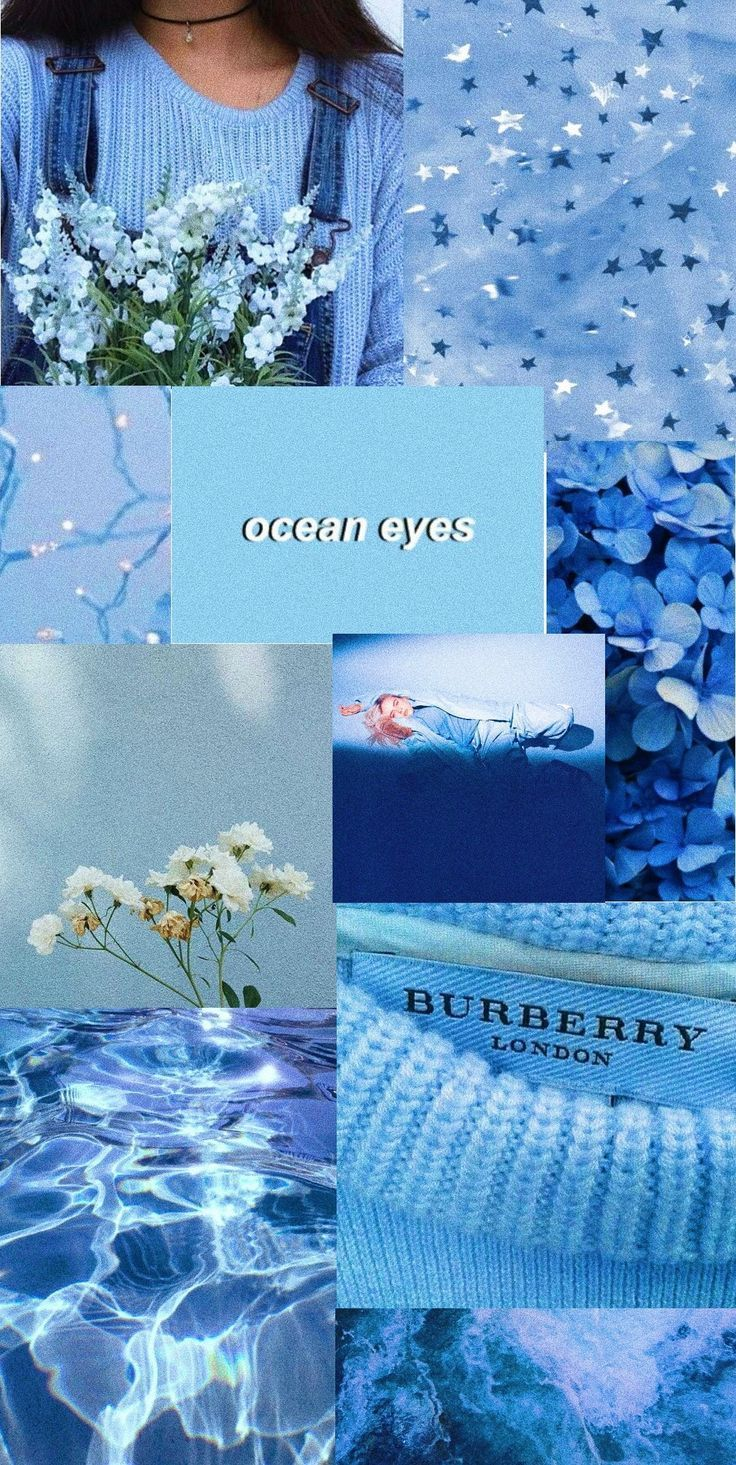 Pastel blue aestheti
