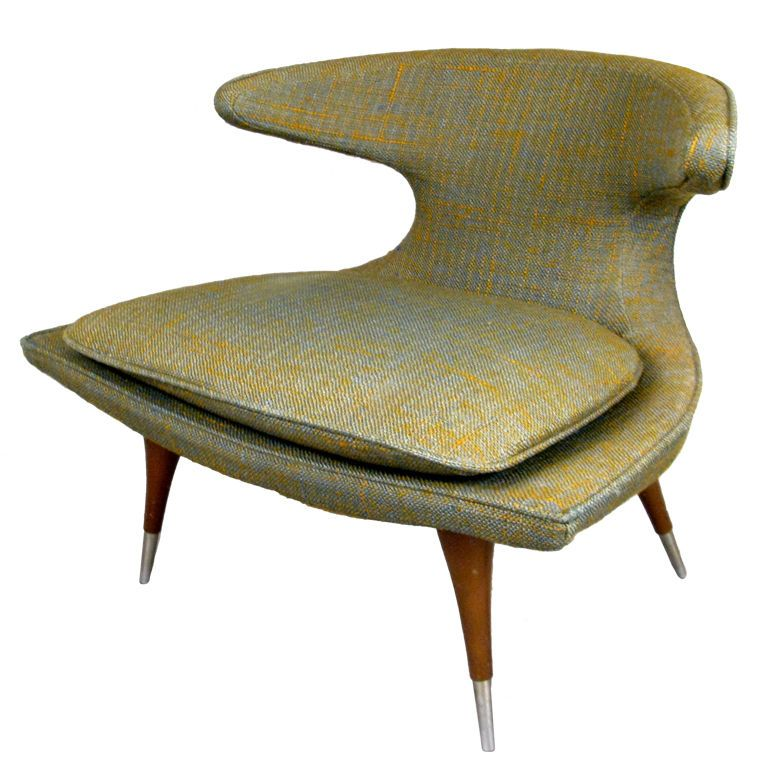 Modern Sculptural 'Horn' Lounge Chair by Karpen | From a unique collection of antique and modern lounge chairs at http://www.1stdibs.com/furniture/seating/lounge-chairs/