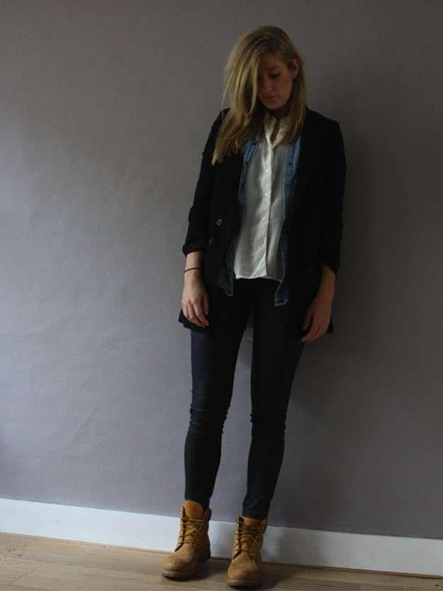 Reclamación Conceder resbalón  Botas Timberland con pantalones negros - Fuente: Pinterest | Botas timberland  mujer, Timberland mujer, Ropa