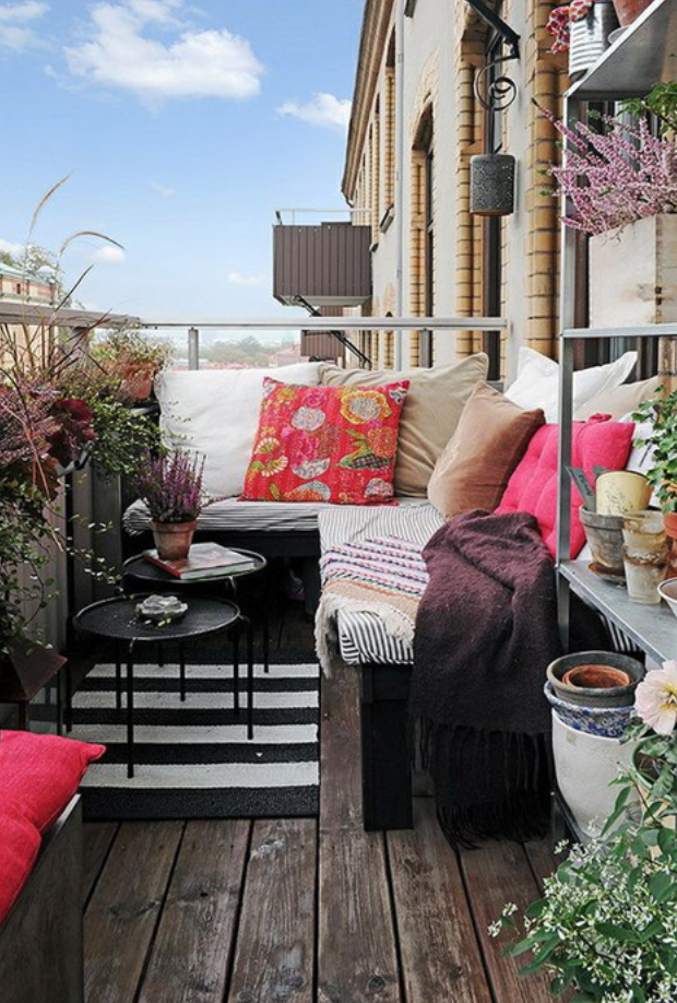 Lifestyle Blogger Sandee Joseph Sharing Balcony Decor Tips On Decorating For Small City Outdoor Space