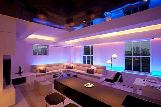 Contemporary Apartment With Led Mood Lighting Led Lighting Home Modern Apartment Furniture Luxury Apartments Interior