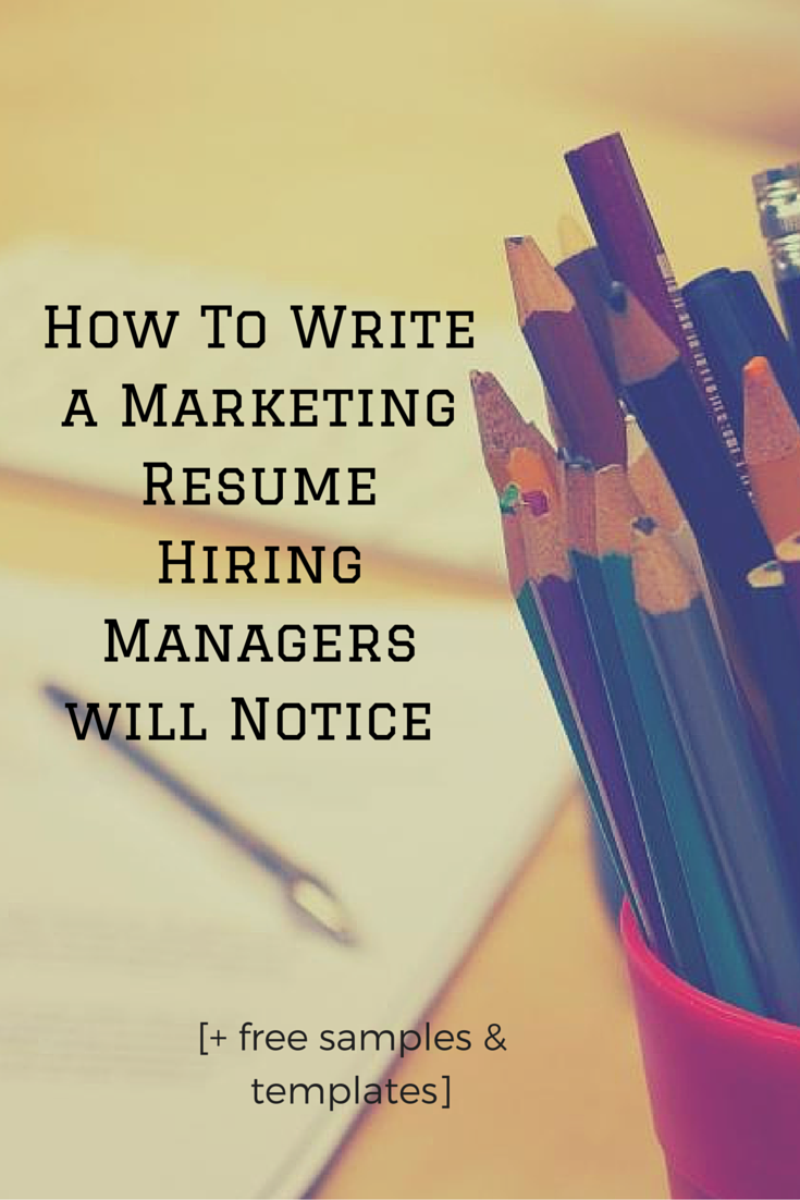 Write A Resume Hiring Managers Will Notice  Templates To Help