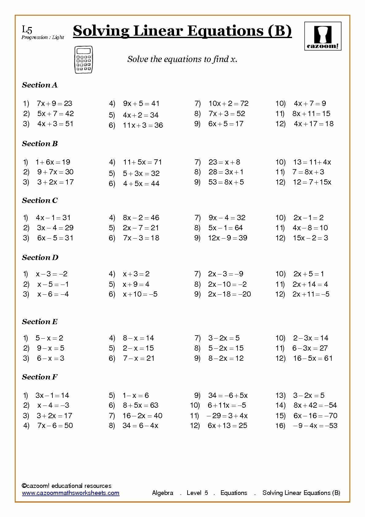3 Year 7 Algebra Worksheets Word Problems Worksheet Best