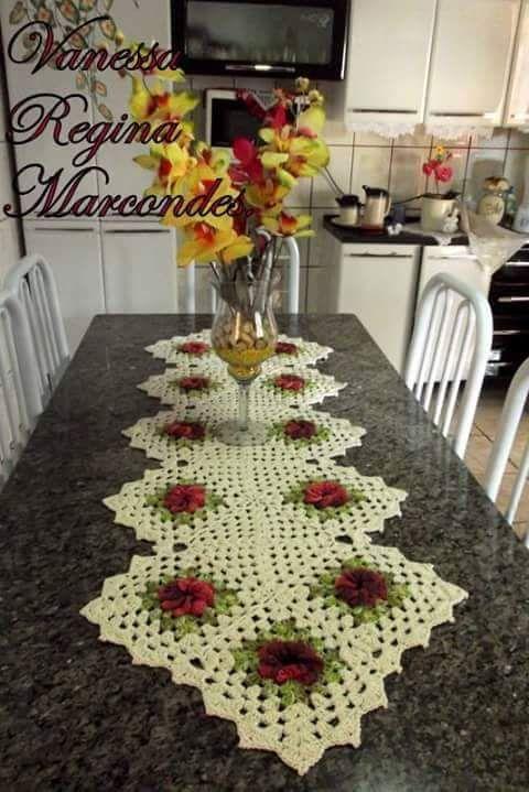 Pin von A E auf Camino de mesa crochet | Pinterest | Deckchen ...