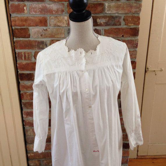 Antique Victorian women's white cotton by cornerhouseinn on Etsy