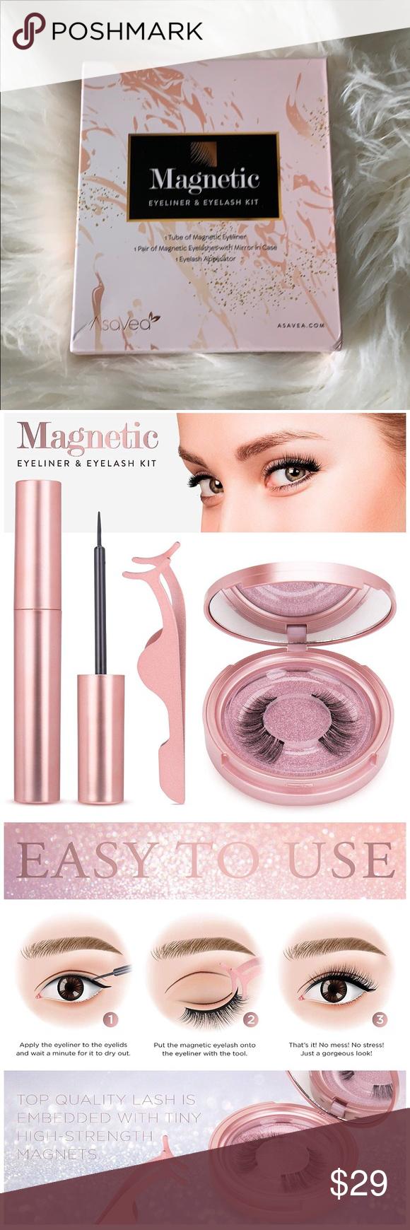 Magnetic eyeliner and eyelash kit Magnetic Eyelashes with Eyeliner - Magnetic Ey...        Eyeliner