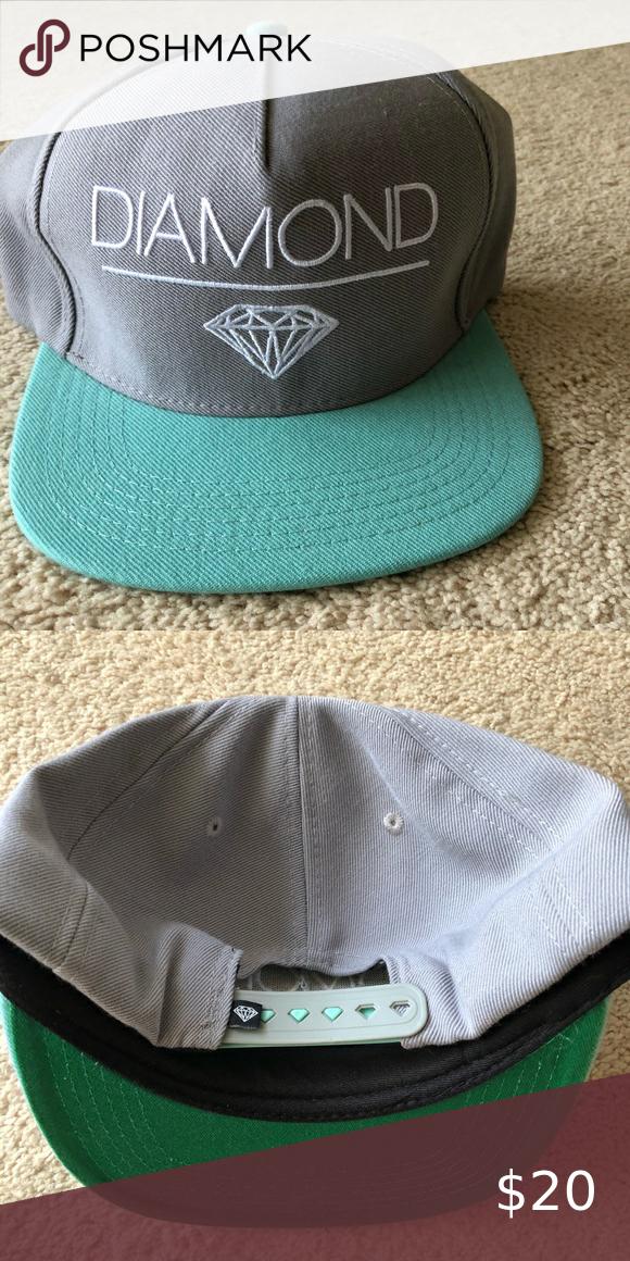 Snapback Hat D L Blue Diamond Supply Co