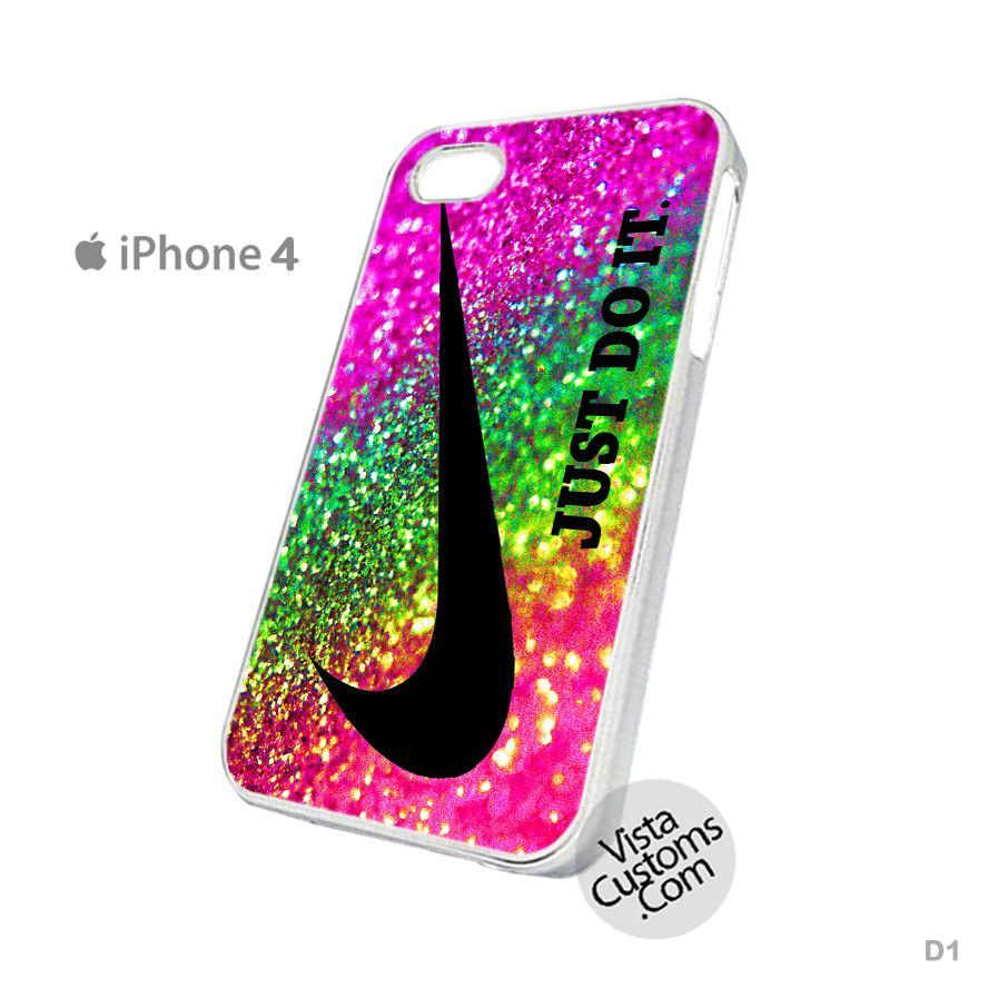 Just Do It Rainbow Sparkle Glitter Printed Phone Case For Apple, iPhone 4, 4S, 5, 5S, 5C, 6, 6 +, iPod, 4 / 5, iPad 3 / 4 / 5, Samsung, Galaxy, S3, S4, S5, S6, Note, HTC, HTC One, HTC One X, BlackBerry, Z10