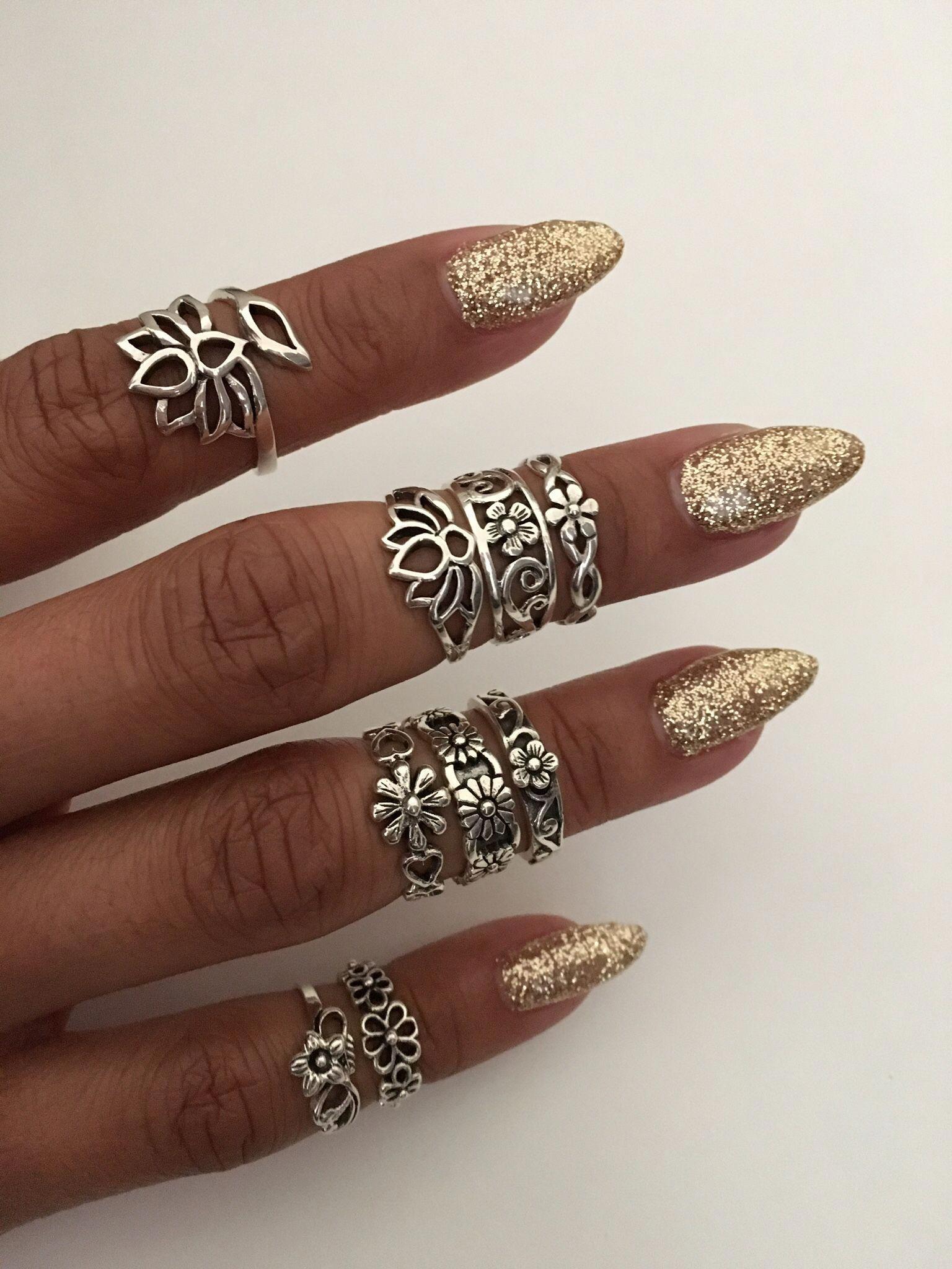 Diamond Alternatives Flower Toe Ring with Gift Box 14k White Gold over 925 SS