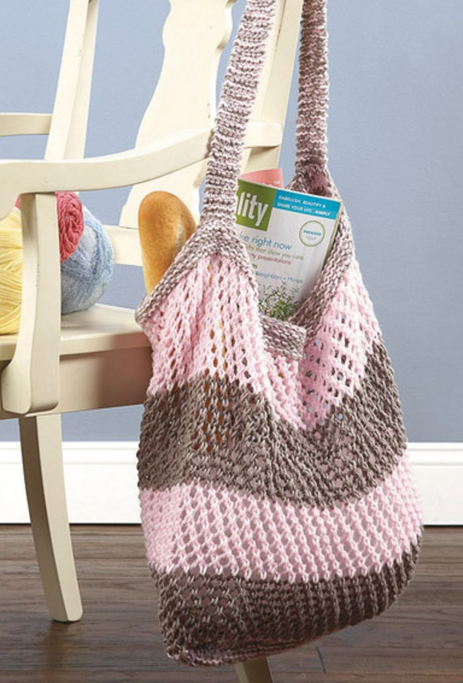 Knitted Market Bag, versatile and great for toting around ...