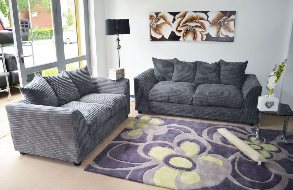 Dylan Jumbo Cord 3+2 Sofa + Free Footstool - All Colours & Combinations