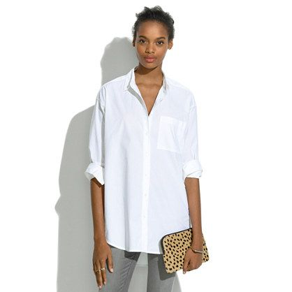 Madewell Oversized Button-Down Shirt $75 Fact: Every wardrobe ...