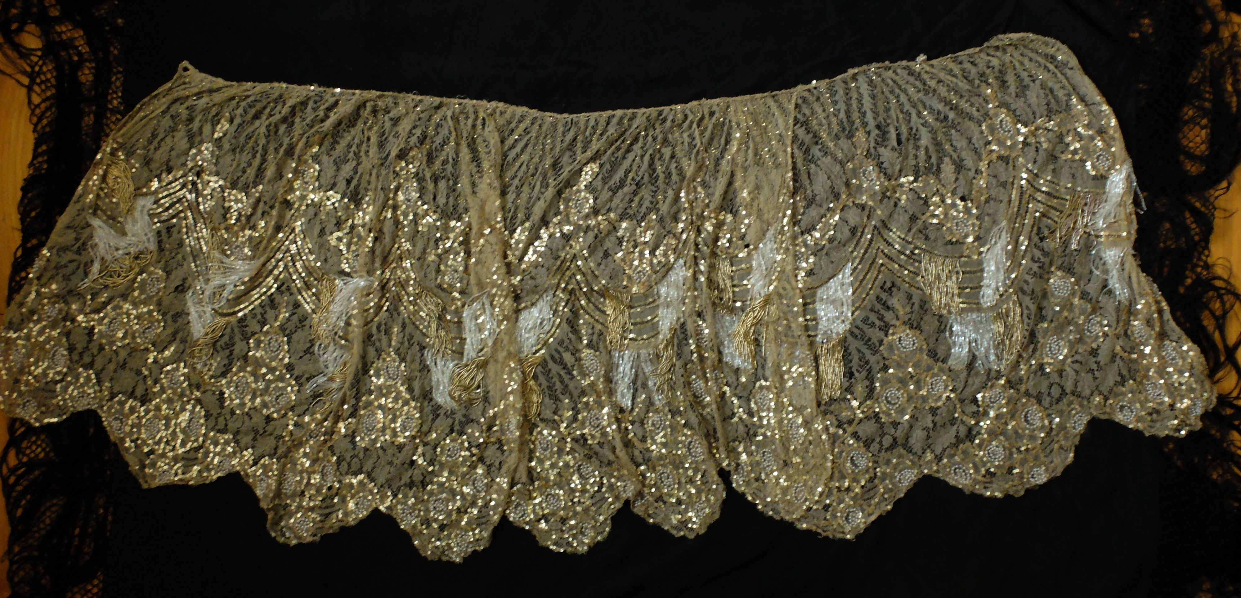 1920 lace dress   gold sequin and beaded lace skirt  Sneak Preview  Pinterest