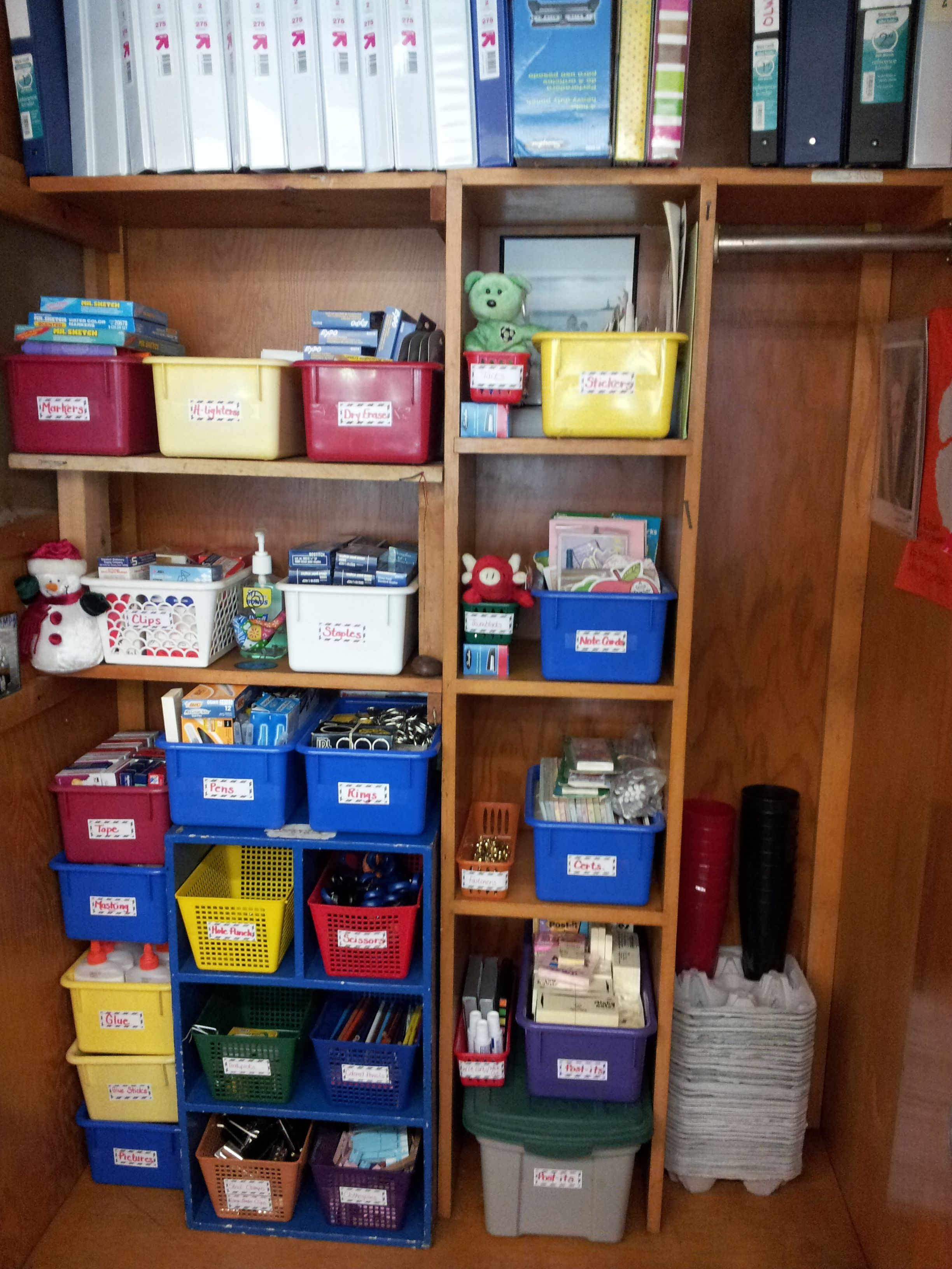 Tracy S Supply Closet Inventoried Organized And Labeled