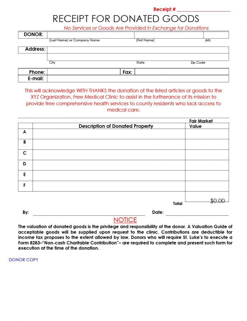 Browse Our Free Non Profit Donation Receipt Template Receipt Template Donation Form Non Profit Donations