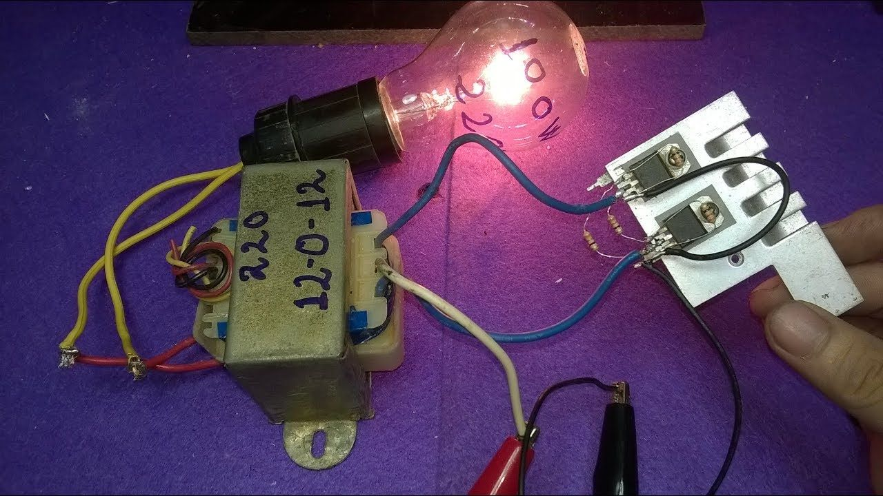 Make Inverter 12v To 220v 200w Simple Circuit Diagram Use 12 0 How An Tr