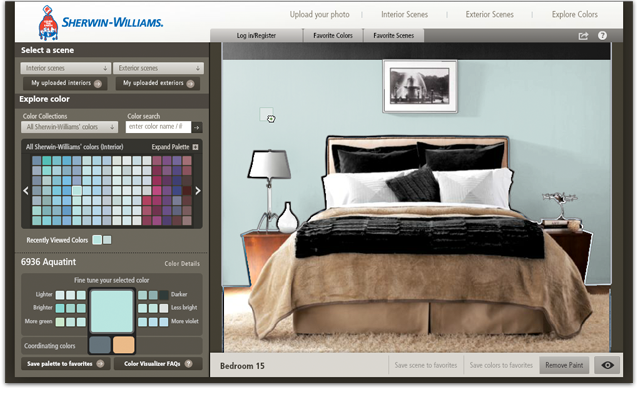 Sherwin williams color visualizer works on furniture to for Room visualizer furniture