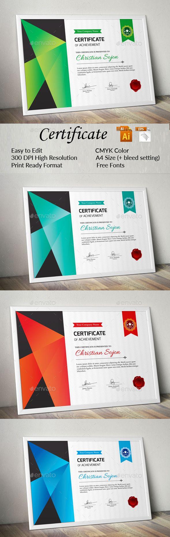 Pin von Maria Alena auf Modern Certificate Design | Pinterest