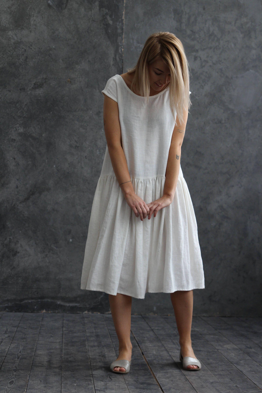 White Linen Wedding Dress White Long Linen Dress Oversized Etsy White Summer Dress Boho White Linen Wedding Dress Boho Maternity Dress [ 3000 x 2000 Pixel ]