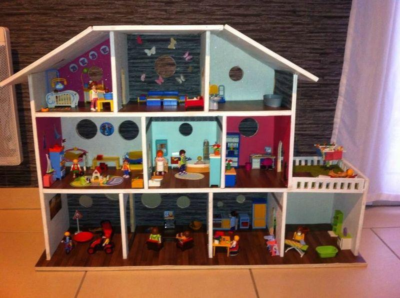 maison playmobil dyi playmobil pinterest maison. Black Bedroom Furniture Sets. Home Design Ideas