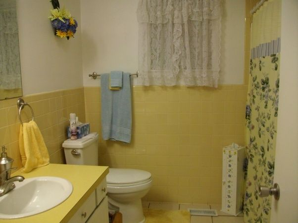 Decorating A Bathroom In Yellow   1973 Retro Yellow Bathroom, We Turned Our  Retro Yellow Part 94