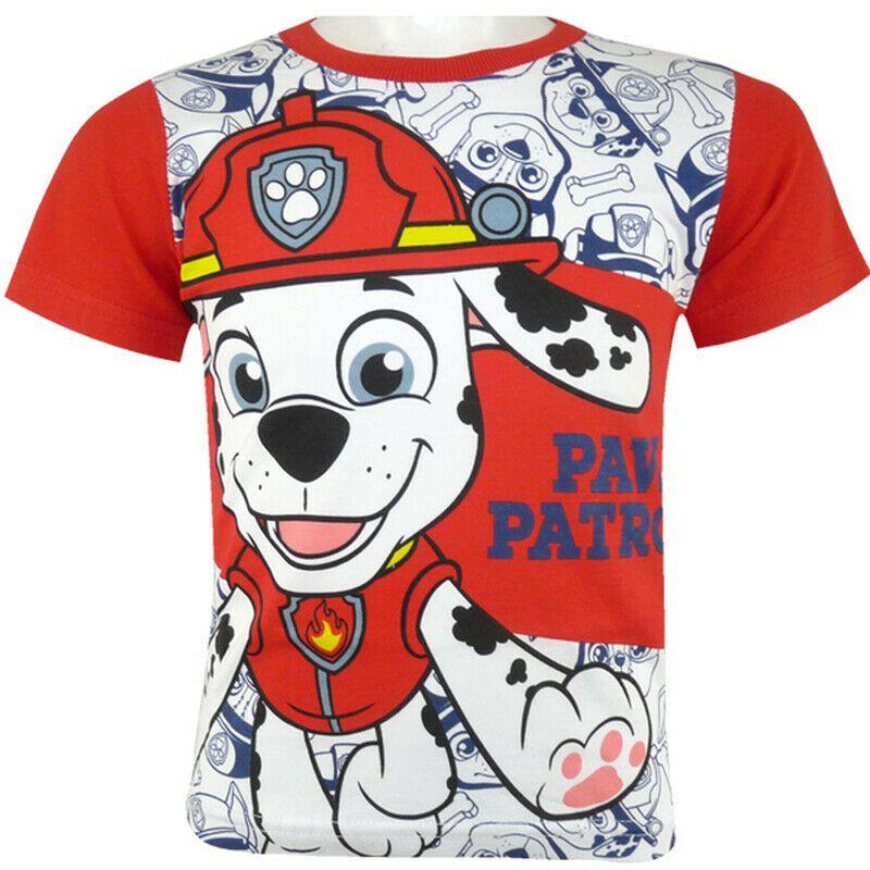 Paw Patrol Rubble Marshall Chase T-Shirt Shirt Kurzarmshirt Jungs Blau