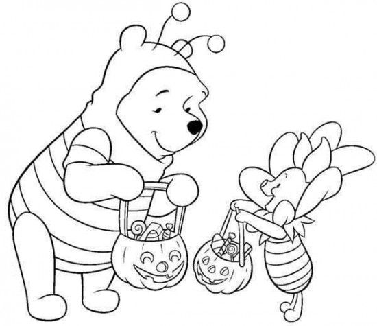 Disney Halloween Pooh Coloring Sheet for Kids Picture 13 ...