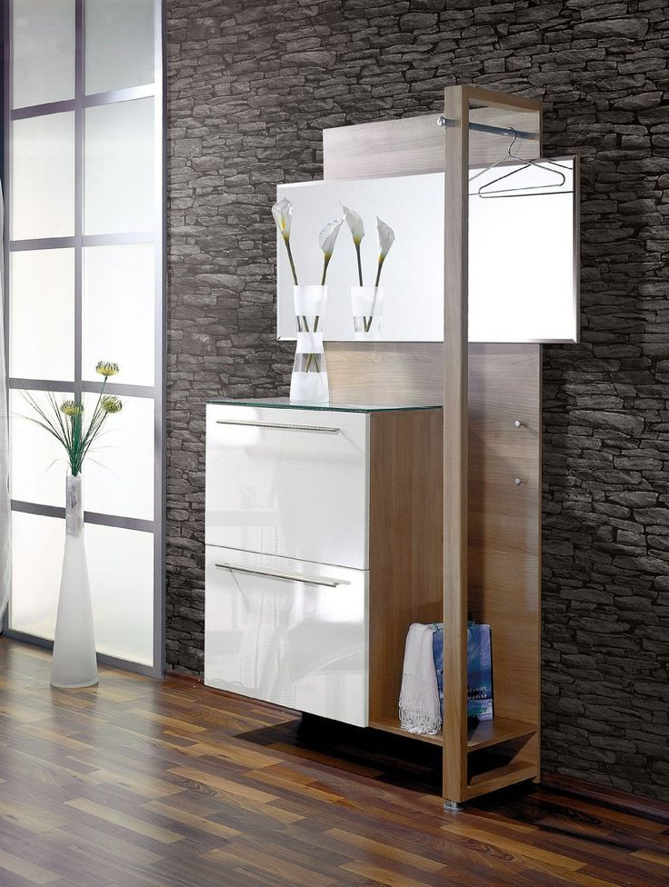 Narrow Hallway Furniture:knockout Small Modern Hallway Storage Design For  Contemporary Narrow Hallway With Wall Mirror Clothing Hooks And Stone Wall  Ideas