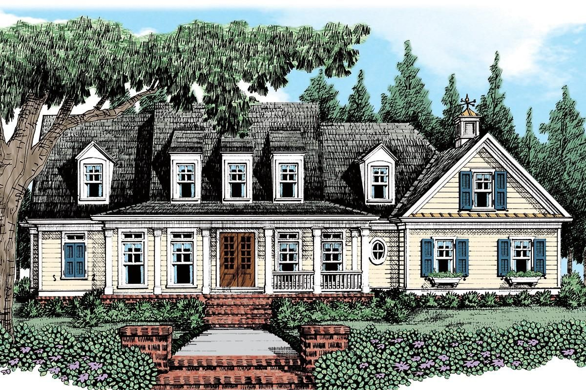 Breezy Lowcountry Home Country Style House Plans Low Country Homes Country Cottage House Plans