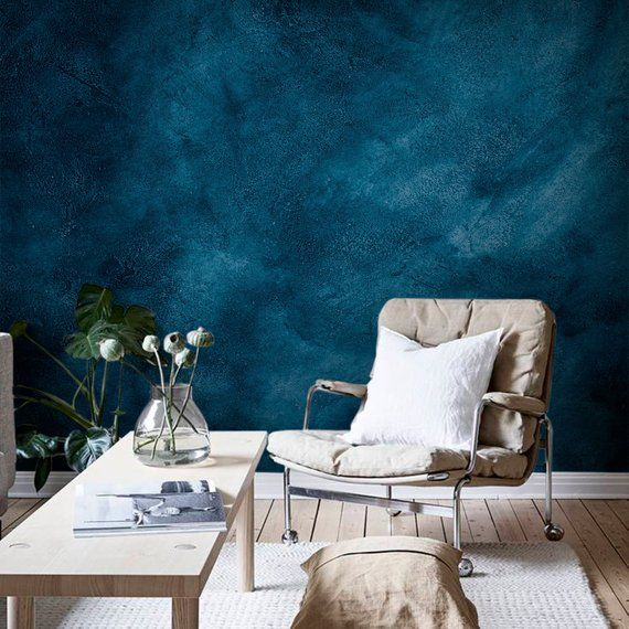 Dark Blue Grunge Wall Mural Peel And Stick Wallpaper Black Temporary Wall Decor Old Cement Wall Paper Self Adhesive Removable Sticker In 2020 Temporary Wall Decor Blue Wallpaper Bedroom Blue Painted Walls