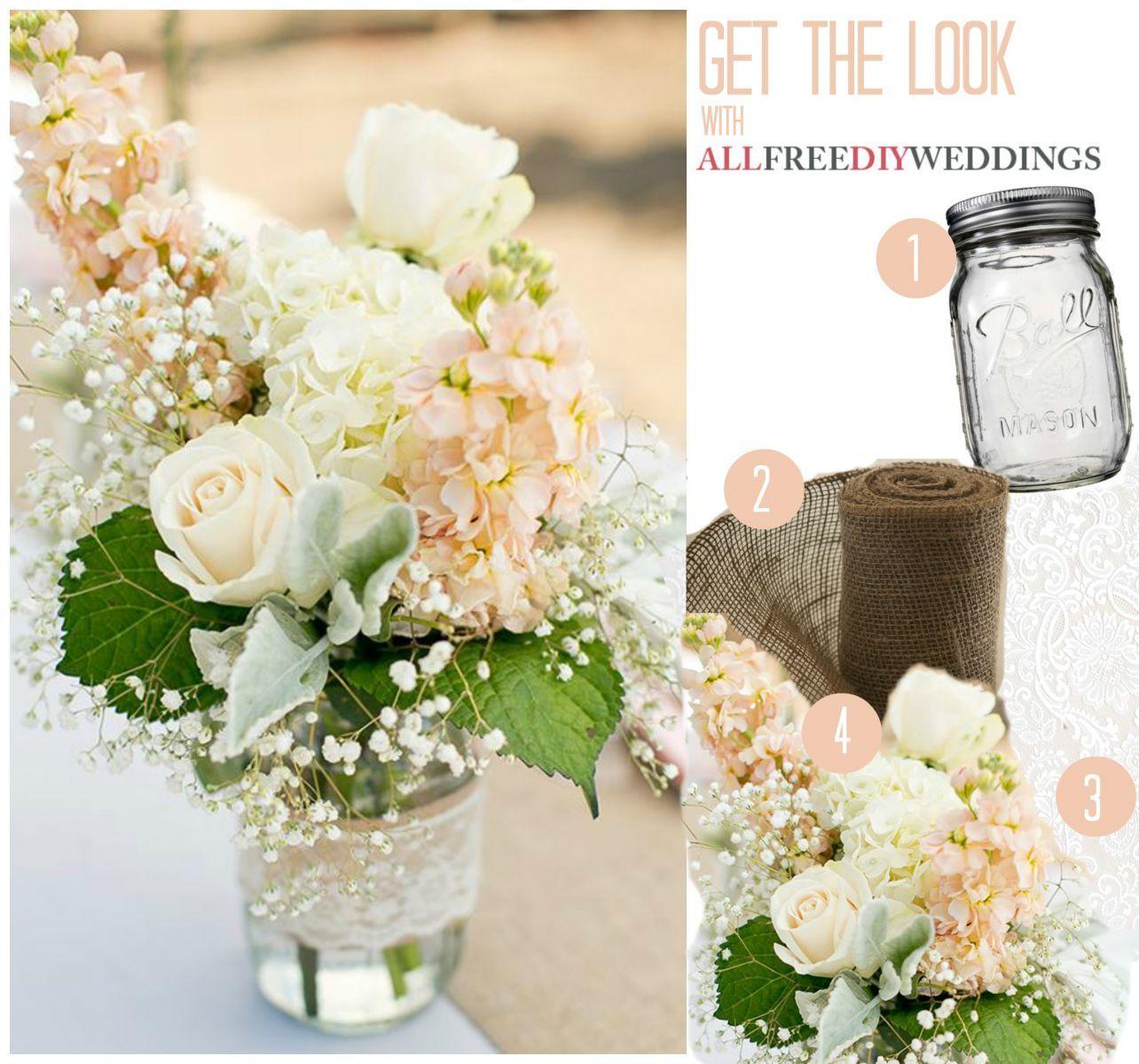 Lace and burlap mason jar centerpieces burlap mason jars mason