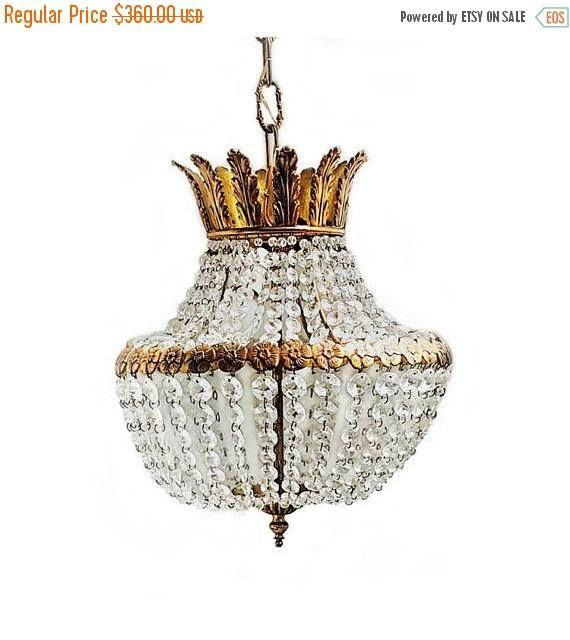 Sale antique venetian crystal chandelier 3 light empire lighting sale antique venetian crystal chandelier 3 light empire aloadofball Images