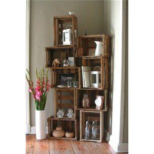 3 er winkiste frei stehendes weinregal aus gebrauchten weinkisten wandregal flaschenregal. Black Bedroom Furniture Sets. Home Design Ideas