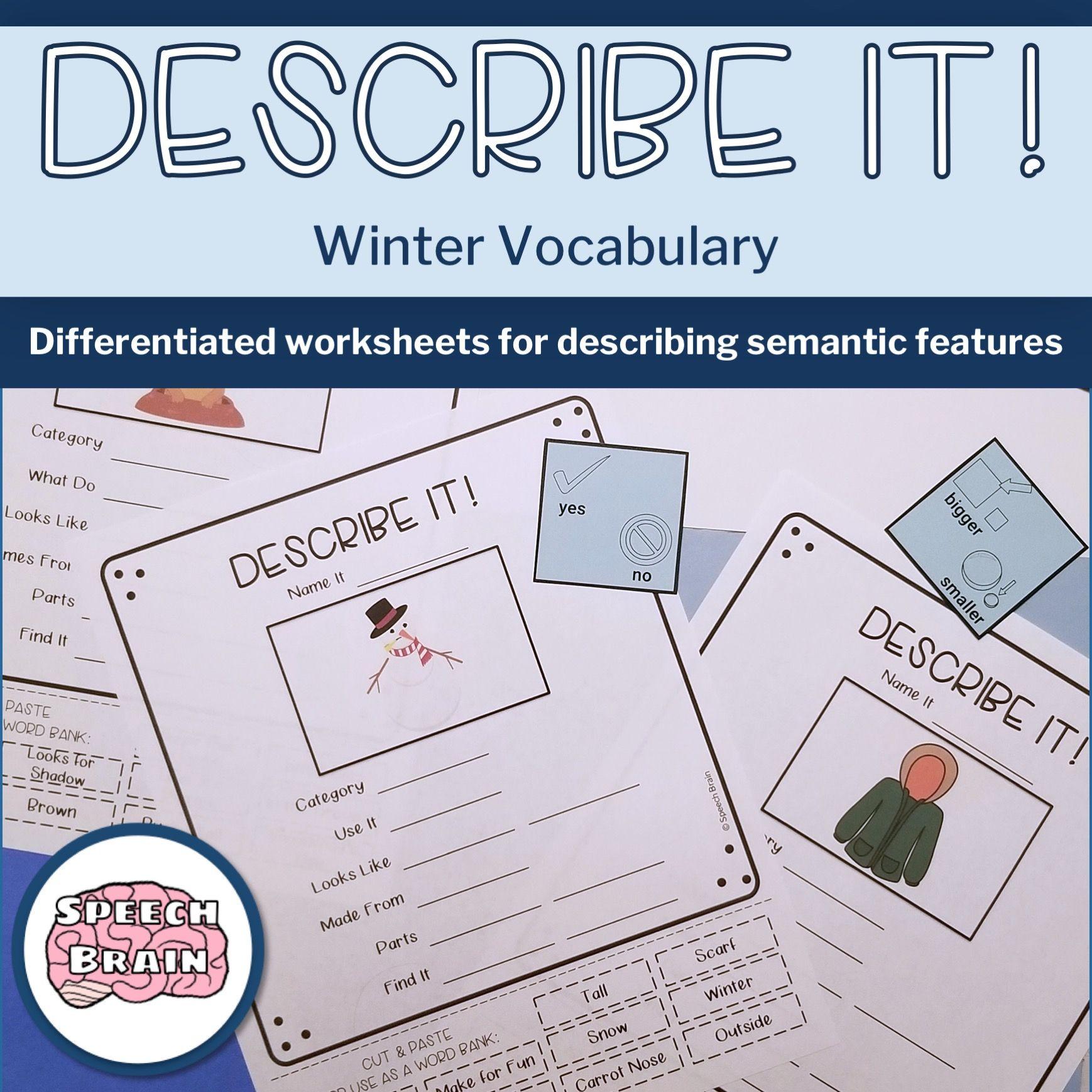 Describe It! Winter