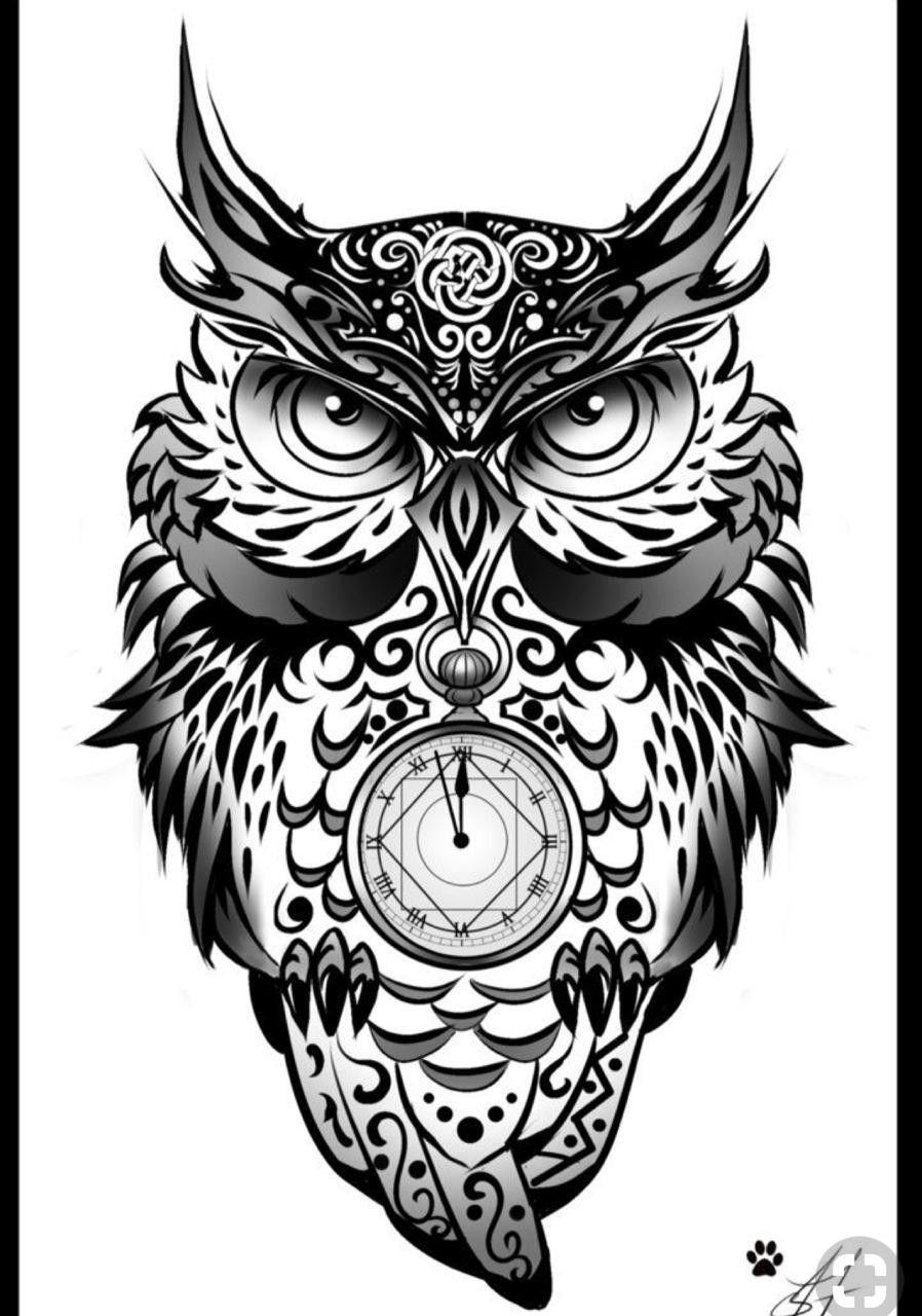 Pin De Grigorij Em Prikolnye Kartinki Corujas Tatoo Tatuagem