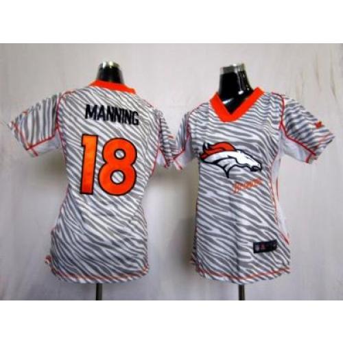 finest selection be36c f6629 NEW Women Denver Broncos #18 Peyton Manning jerseys(fem fan ...