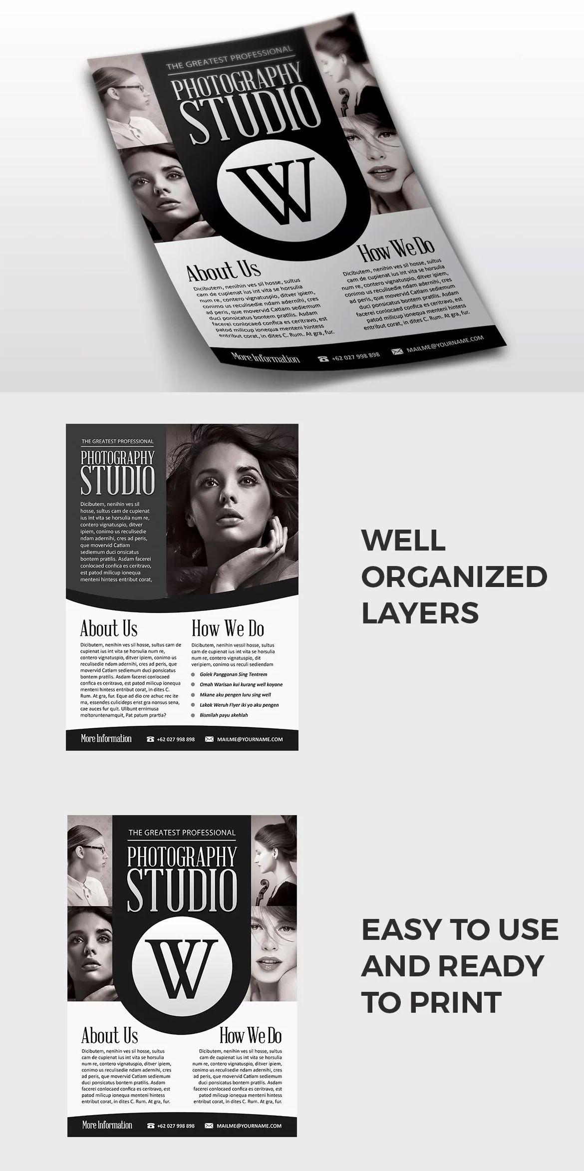 Photography Flyer Template PSD A4 | Flyer Design Templates ...