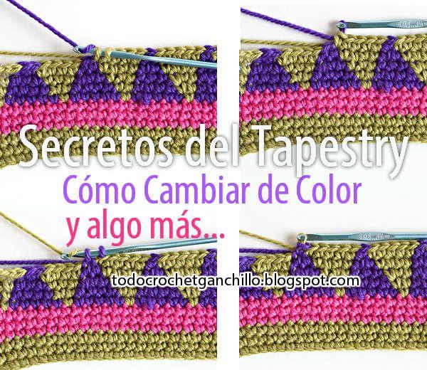 Todo crochet: Los Secretos del Tapestry / Aprender a tejer ...