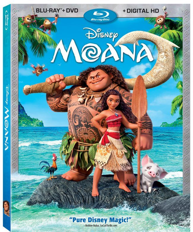 Moana BluRay Review On Bluray, DVD, & OnDemand March