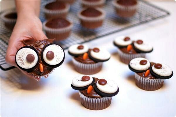 Owl cupcakes for kids to make