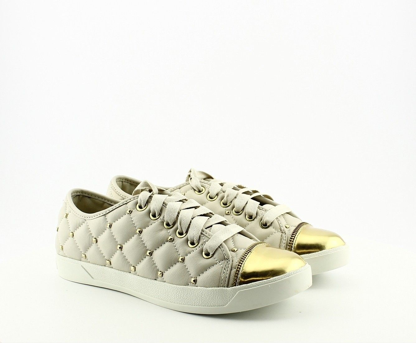 Michael Kors Sneaker MK Quilted Vanilla | Shoes <3 | Pinterest ... : michael kors quilted sneakers - Adamdwight.com
